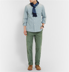 Chimala Garment-Dyed Cotton Trousers