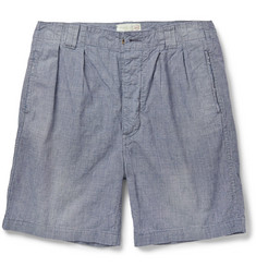 Chimala Two-Tone Woven Cotton Shorts