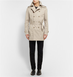 Sandro Double-Breasted Cotton Trench Coat