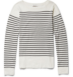 Sandro Striped Fine-Knit Cotton Sweater