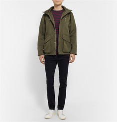Sandro Hooded Cotton-Twill Parka