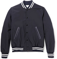 Sandro Leather-Trimmed Bomber Jacket