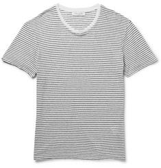 Sandro Striped Linen-Jersey T-Shirt
