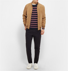 Sandro Striped Silk and Cotton-Blend Sweater