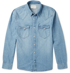 Sandro Washed Cotton-Chambray Shirt