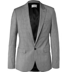Sandro Slim-Fit Prince of Wales Checked Wool Blazer