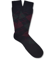 Pantherella Argyle Merino Wool-Blend Socks