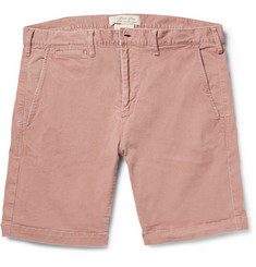 Remi Relief Slim-Fit Rinsed Cotton-Blend Shorts