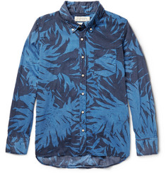 Remi Relief Button-Down Collar Printed Cotton-Voile Shirt