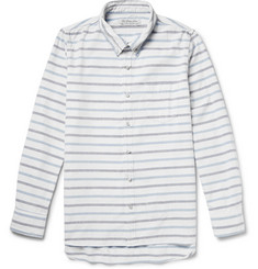 Remi Relief Slim-Fit Striped Cotton Shirt