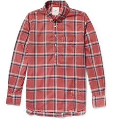 Remi Relief Button-Down Collar Checked Cotton Shirt