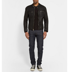 Jean Shop Leather Biker Jacket