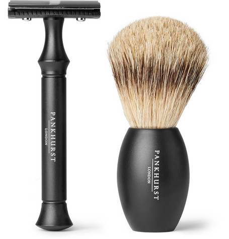 PANKHURST LONDON Razor And Brush Set - Black - One Siz