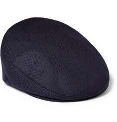 Kingsman Lock & Co Herringbone Wool Flat Cap