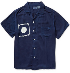 Blue Blue Japan Printed Satin-Twill Shirt