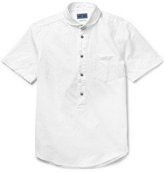 Blue Blue Japan Mini Club-Collar Cotton and Linen-Blend Oxford Shirt