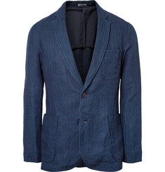Blue Blue Japan Herringbone Linen Suit Jacket