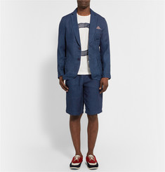 Blue Blue Japan Herringbone Linen Suit Shorts