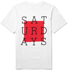 Saturdays Surf NYC Slab Box Printed Cotton-Jersey T-Shirt