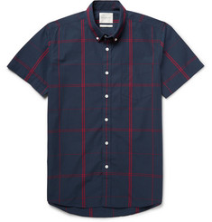 Saturdays Surf NYC Esquina Checked Cotton Shirt