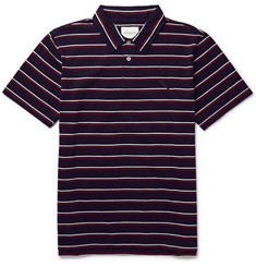 Saturdays Surf NYC Jake Striped Cotton-Jersey Polo Shirt