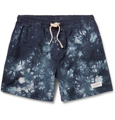 Saturdays Surf NYC Ritchie Tie-Dye Woven Cotton Swim Shorts