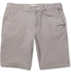 NN.07 Seersucker Cotton-Blend Shorts