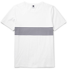 NN.07 Todd Striped Cotton-Jersey T-Shirt