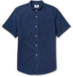 NN.07 Samuel  Slim-Fit Brushed-Cotton Shirt