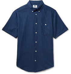 NN.07 New Derek Slim-Fit Cotton-Voile Shirt