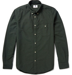 NN.07 New Derek Button-Down Collar Cotton Oxford Shirt