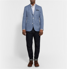 Freemans Sporting Club Slim-Fit Cotton-Chambray Blazer