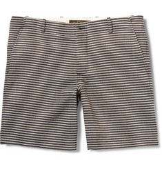 Freemans Sporting Club Striped Cotton-Canvas Shorts