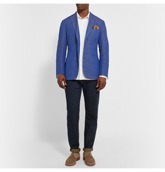 Freemans Sporting Club Slim-Fit Cotton-Jacquard Blazer