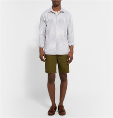 Freemans Sporting Club Slim-Fit Striped Cotton-Twill Shirt