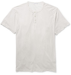 James Perse Marled Cotton-Jersey Henley T-Shirt