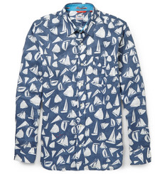 LimoLand Slim-Fit Printed Linen Shirt