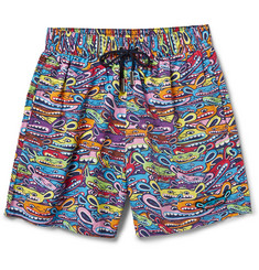 LimoLand Mr Limo Printed Mid-Length Swim Shorts