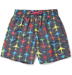 LimoLand Mid-Length Printed Swim Shorts