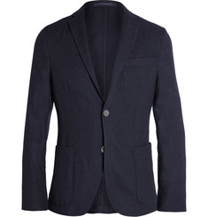 Officine Generale Navy Slim-Fit Cashmere-Flannel Blazer