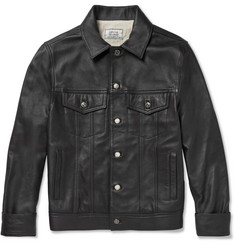 Officine Generale Bary Leather Bomber Jacket