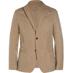 Officine Generale Sim-Fit Woven Cotton Suit Jacket