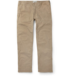 Officine Generale Slim-Fit Cotton-Twill Trousers