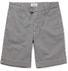 Officine Generale Striped Denim Shorts