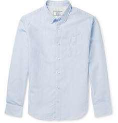Officine Generale Striped Cotton and Linen-Blend Poplin Shirt