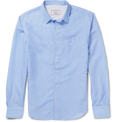 Officine Generale Slub Cotton and Linen-Blend Poplin Shirt