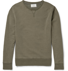 Officine Generale Washed Loopback Cotton-Jersey Sweatshirt