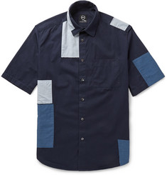 McQ Alexander McQueen Patchwork Cotton-Chambray Shirt