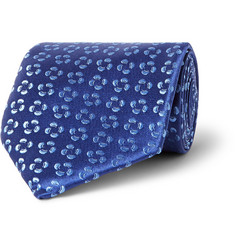 Charvet Floral-Embroidered Silk Tie