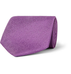 Charvet Textured Silk and Linen-Blend Tie